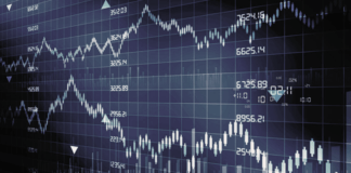 Na imagem, um gráfico de investimentos.