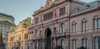 Foto da Casa Rosada na Argentina, símbolo da economia argentina