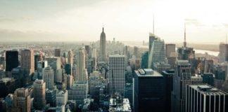Foto aéra de nova york, representando a economia norte-americana
